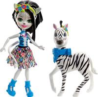 Купить Enchantimals Игровой набор с куклой Zelena Zebra & Hoofette, Куклы и аксессуары