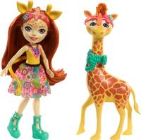 Купить Enchantimals Игровой набор с куклой Gillian Giraffe & Pawl, Куклы и аксессуары
