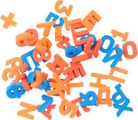 Купить Pic'nMix Набор игрушек для ванной Буквы-цифры цвет синий красный оранжевый 48 шт, Первые игрушки