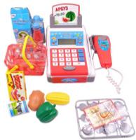 Купить ABtoys Игровой набор Касса Помогаю Маме 40 предметов 106977, Сюжетно-ролевые игрушки