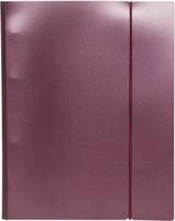 Купить Hatber Тетрадь на кольцах Metallic 120 листов в клетку цвет бордовый, Тетради