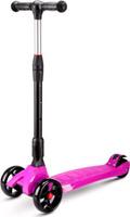 Купить Детский самокат Buggy Boom SKL-L-02 , трехколесный, со светодиодами, цвет: фуксия, Самокаты