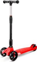 Купить Детский самокат Buggy Boom SKL-L-02 , трехколесный, со светодиодами, цвет: красный, Самокаты