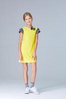 Купить Платье для девочки Смена, цвет: желтый. 17с39. Размер 98/104, Одежда для девочек
