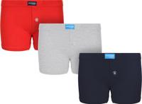 Купить Трусы-боксеры для мальчика PlayToday Home Корпорация Монстриков, цвет: красный, серый, темно-синий, 3 шт. 185006. Размер 98/104, Одежда для мальчиков