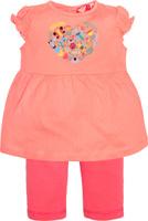 Купить Комплект одежды для девочки Let's Go: футболка, бриджи, цвет: розовый. 4132. Размер 74, Одежда для девочек