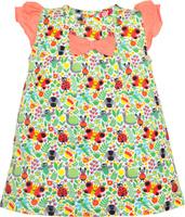 Купить Платье для девочки Let's Go, цвет: белый. 8148. Размер 86, Одежда для девочек