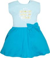 Купить Платье для девочки Let's Go, цвет: бирюзовый. 8151. Размер 122, Одежда для девочек