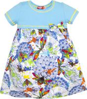 Купить Платье для девочки Let's Go, цвет: голубой. 8150. Размер 122, Одежда для девочек