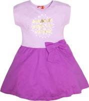 Купить Платье для девочки Let's Go, цвет: лиловый, сиреневый. 8151. Размер 122, Одежда для девочек