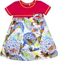 Купить Платье для девочки Let's Go, цвет: малиновый. 8150. Размер 122, Одежда для девочек