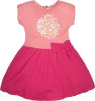 Купить Платье для девочки Let's Go, цвет: персиковый, малиновый. 8151. Размер 122, Одежда для девочек