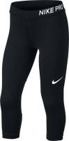 Купить Леггинсы для девочки Nike Pro, цвет: черный. 890219-010. Размер L (146/158), Одежда для девочек
