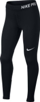 Купить Леггинсы для девочки Nike Pro, цвет: черный. 890228-010. Размер S (128/140), Одежда для девочек