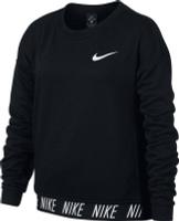Купить Свитшот для девочки Nike Dry, цвет: черный. 890281-010. Размер S (128/140), Одежда для девочек