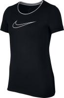 Купить Футболка для девочки Nike Pro, цвет: черный. 890230-010. Размер L (146/158), Одежда для девочек