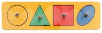 Купить Smile Decor Обучающая игра Рамки-вкладыши Геометрические фигуры цвет желтый, Обучение и развитие