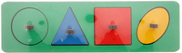 Купить Smile Decor Обучающая игра Рамки-вкладыши Геометрические фигуры цвет зеленый, Обучение и развитие
