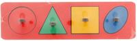 Купить Smile Decor Обучающая игра Рамки-вкладыши Геометрические фигуры цвет красный, Обучение и развитие