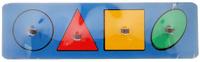 Купить Smile Decor Обучающая игра Рамки-вкладыши Геометрические фигуры цвет синий, Обучение и развитие
