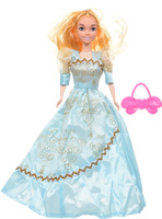 Купить Veld-Co Кукла Benigh Girl цвет платья голубой, Куклы и аксессуары