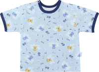 Купить Футболка для мальчика Веселый малыш One, цвет: голубой. 67172/one-C (1)_городской пес. Размер 68, Одежда для новорожденных