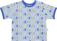 Купить Футболка для мальчика Веселый малыш One, цвет: голубой. 67172/one-C (1)_медведь. Размер 68, Одежда для новорожденных