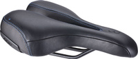 Купить Седло велосипедное BBB SportPlus Active Leather , цвет: черный, 185 х 270 мм, Седла, штыри и накладки