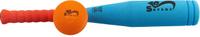 Купить Safsof Игровой набор Бейсбольная бита и мяч цвет голубой коралловый оранжевый, Спортивные игры