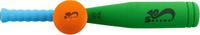 Купить Safsof Игровой набор Бейсбольная бита и мяч цвет зеленый голубой оранжевый, Спортивные игры