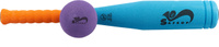Купить Safsof Игровой набор Бейсбольная бита и мяч цвет голубой оранжевый фиолетовый, Спортивные игры