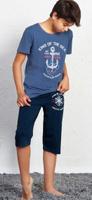 Купить Пижама для мальчика Vienetta's Secret New York City, цвет: темно-синий. 708125 0000. Размер (146/152), 11-12 лет, Одежда для мальчиков