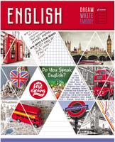 Купить Magic Lines Тетрадь Мозайка Английский язык 48 листов в клетку, Тетради