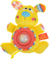Купить Мир детства Мягкая игрушка-погремушка Дрессировщица Алиса цвет желтый красный, Первые игрушки