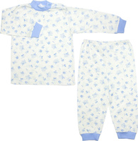 Купить Пижама для мальчика Осьминожка, цвет: молочный, голубой. 116-20. Размер 110, Одежда для мальчиков