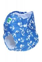 Купить Mum's Era Многоразовый подгузник Якоря 3-13 кг + один вкладыш, Подгузники и пеленки