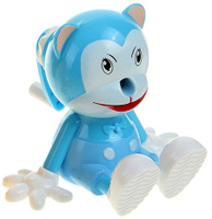 Купить Точилка механическая с контейнером Кот цвет голубой 1965003, Чертежные принадлежности