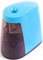 Купить Точилка электрическая с контейнером цвет голубой 2691088, Чертежные принадлежности