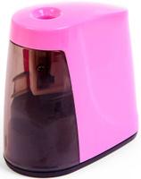 Купить Точилка электрическая с контейнером цвет розовый 2691088, Чертежные принадлежности