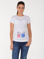 Купить Футболка для беременных BuduMamoy, цвет: молочный. KL BL 354 TK 642. Размер 44, Одежда для беременных