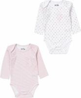 Купить Боди для девочки ARTIE, цвет: розовый, белый. 080081 роз-пол/бел. Размер 56, Одежда для новорожденных