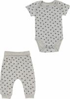 Купить Комплект одежды для мальчика ARTIE: боди, брюки, цвет: серый меланж. 061071 сер/сер-меланж. Размер 62, Одежда для новорожденных