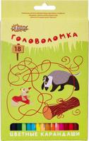 Купить №1 School Набор цветных карандашей Головоломка 18 шт, Карандаши