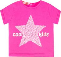 Купить Футболка для девочки Let's Go, цвет: малиновый. 5145. Размер 86, Одежда для новорожденных