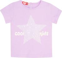 Купить Футболка для девочки Let's Go, цвет: светло-сиреневый. 5145. Размер 86, Одежда для новорожденных