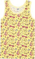 Купить Майка для девочки Let's Go, цвет: желтый. 2148. Размер 98/104, Одежда для девочек