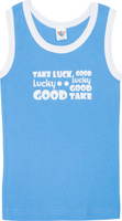 Купить Майка для мальчика Let's Go, цвет: голубой. 2242. Размер 86, Одежда для новорожденных