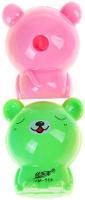 Купить Набор точилок с контейнером Мишка цвет розовый зеленый 2 шт 835100, Чертежные принадлежности