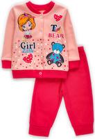 Купить Комплект одежды для девочки M&D: штанишки, кофточка, цвет: розовый. КМ140905_5. Размер 74, Одежда для новорожденных
