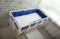 Купить Body Pillow Бортик-подушка для кроватки Звезды цвет синий белый 12 шт, Бортики, бамперы